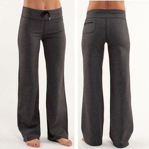 Lululemon Relaxed Fit Pant Heathered Black 8